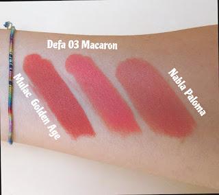verdebio Defa Cosmetics Velvet Matt Lipstick mulac golden age , paloma nabla