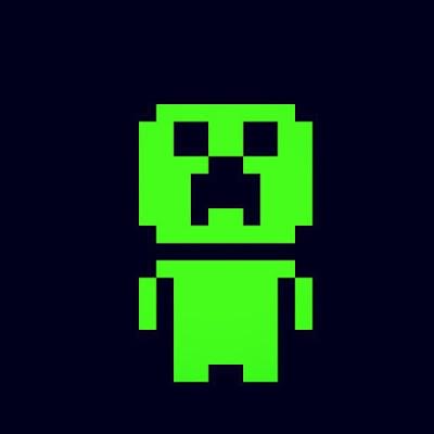 dibujo de creeper hecho en pixeles