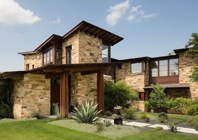 Model Dinding Teras Rumah Minimalis 2019 Dengan Pesona Batu Alam Yang Lebih Natural Dan Alami 6