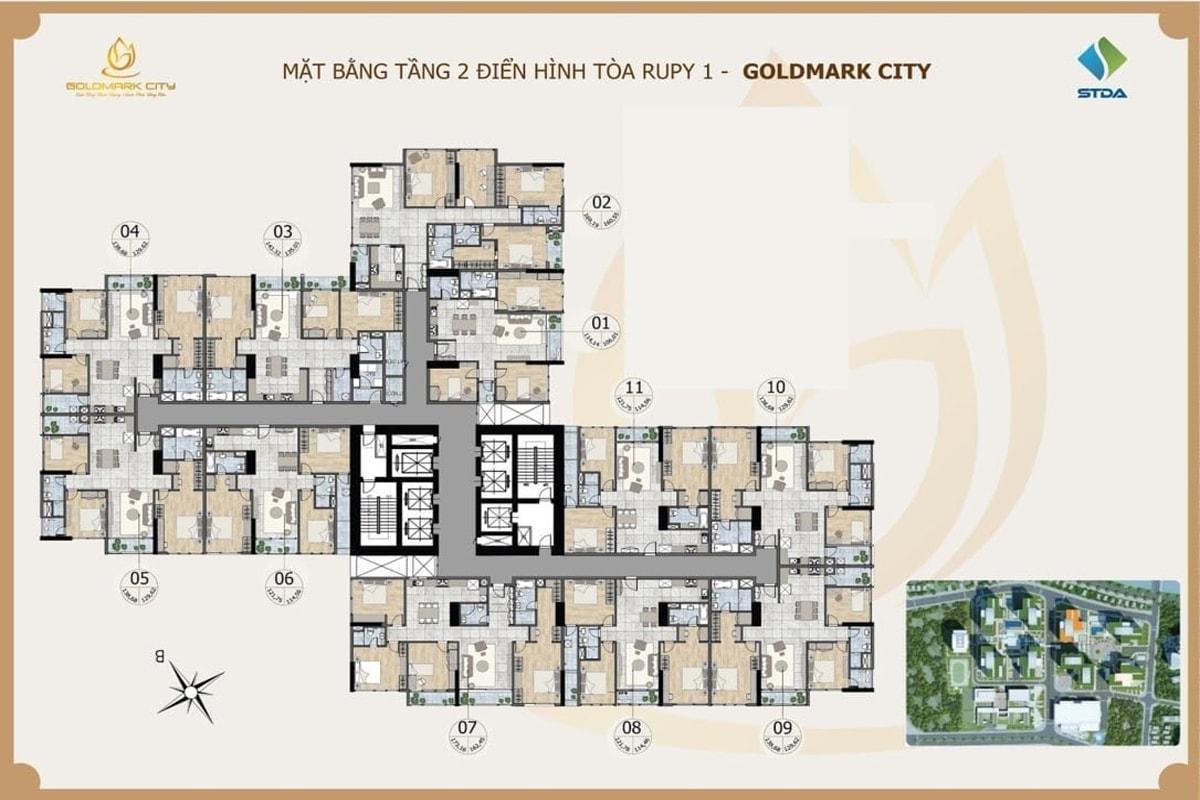 Tòa Ruby 1 dự án Goldmark City