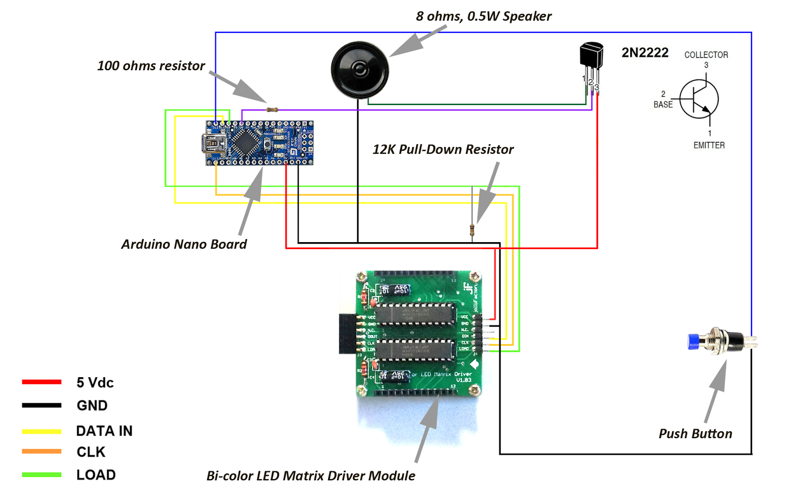 Jollifactory Arduino Based Bi Color Led Matrix Flappy Bird Game Array Driver Circuit When Power Is First Applied To The Micro Controller Or They Are Reset Their I O Lines Float
