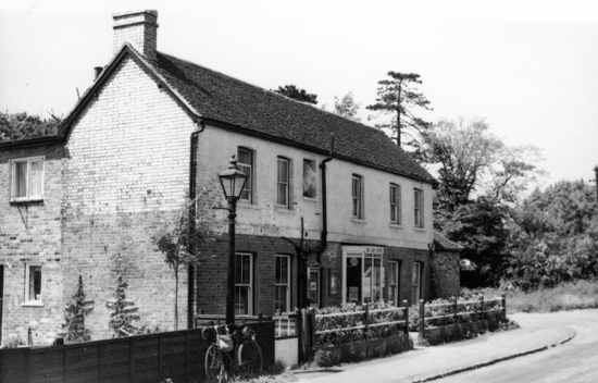Photograph of Bell Bar Stores June 1962 At corner of Bulls Lane, now a private residence
