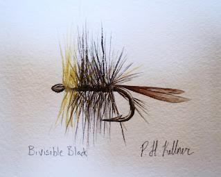 Bivisible Black, Pat Kellner, P. H. Kellner, Fishing Art, Fly Fishing Art, Texas Freshwater Fly Fishing, TFFF, Fly Fishing Texas, Texas Fly Fishing