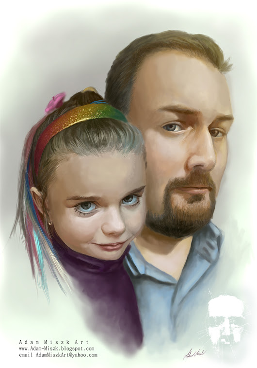 Classic portrait 'Father and daughter'