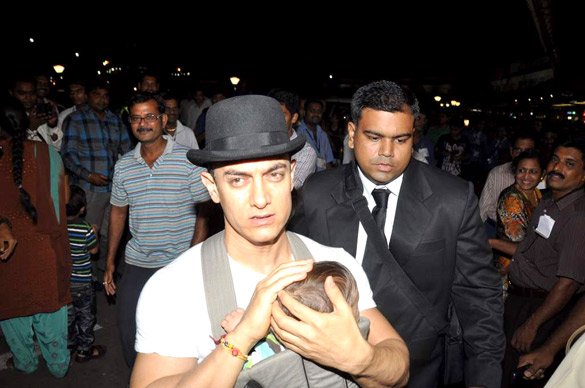 Aamir Khan snapped at Airport with baby Azad stills