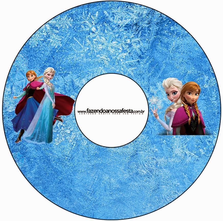 Etiquetas de Frozen para CD's