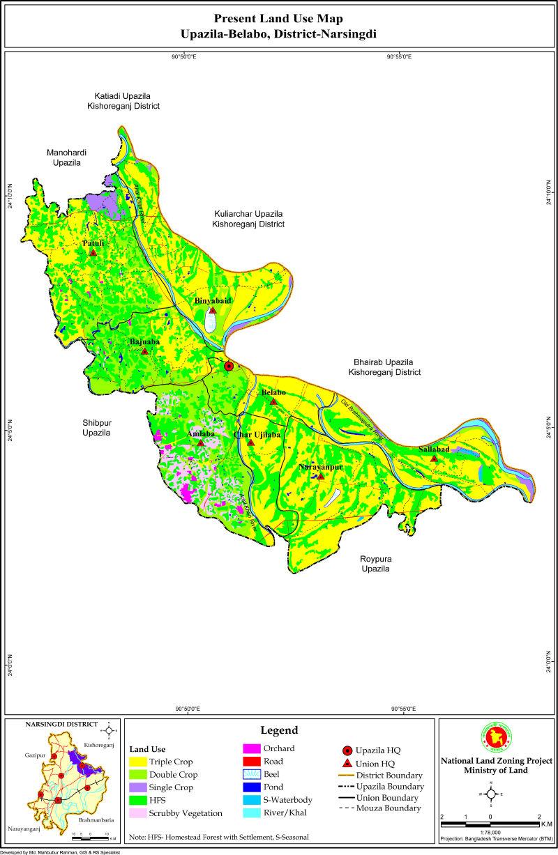 Belabo Upazila Mouza Map Narsingdi District Bangladesh