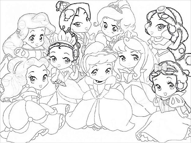 Baby Disney Princess Coloring Pages Photo