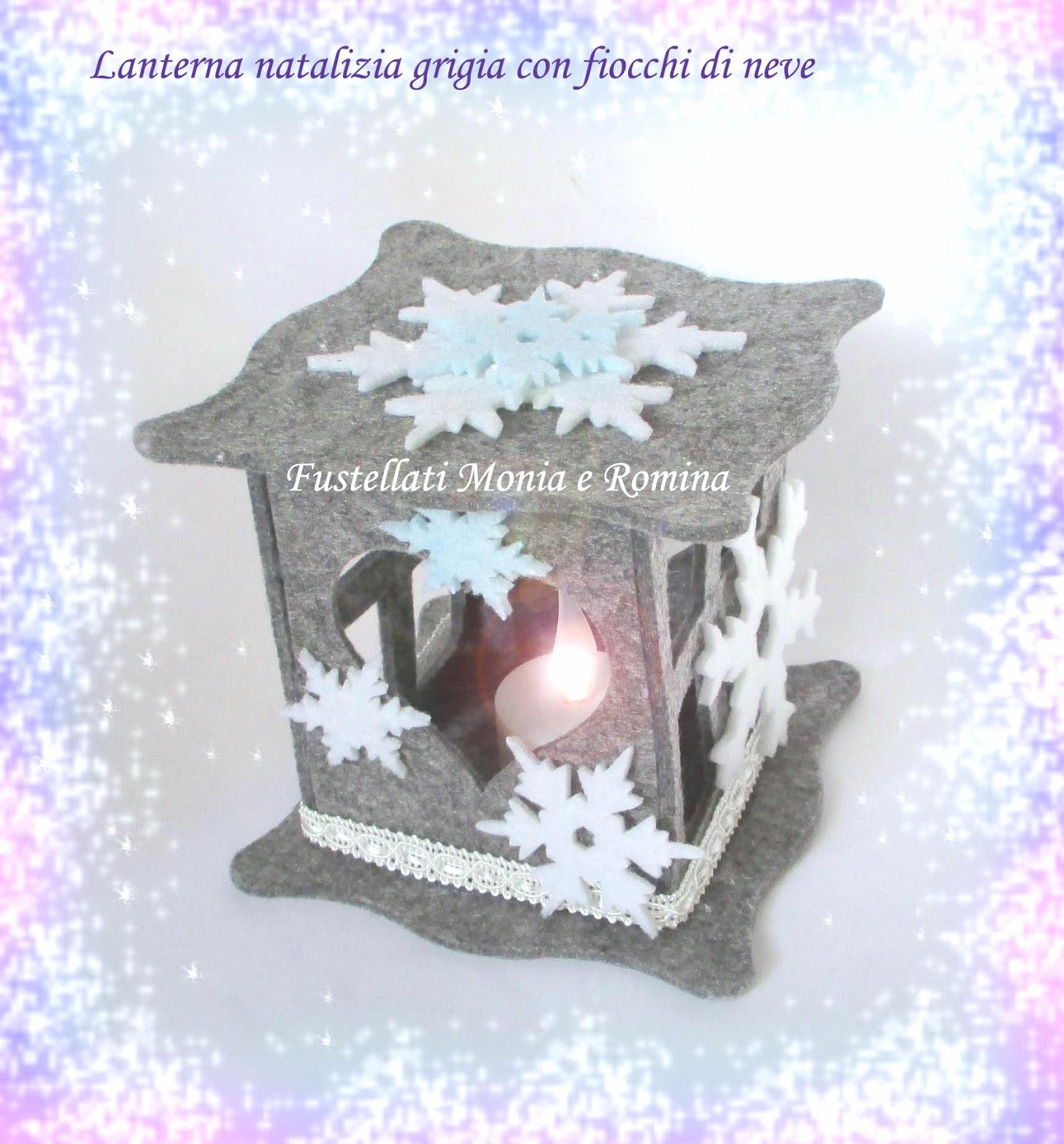 Regali Di Natale In Pannolenci.Lanterna Natalizia Fai Da Te Decorazione In Feltro Idea Regalo
