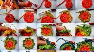 Cómo tejer una flor de capas superpuestas paso a paso