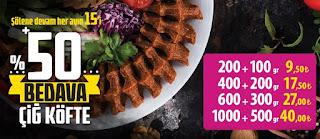 komagene çiğ köfte menü fiyat listesi kampanyalar