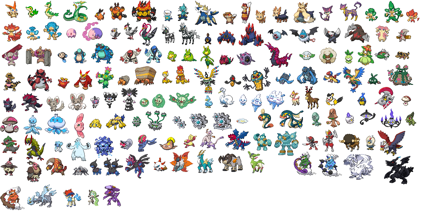 Pokemon Black and White - Type Pictures