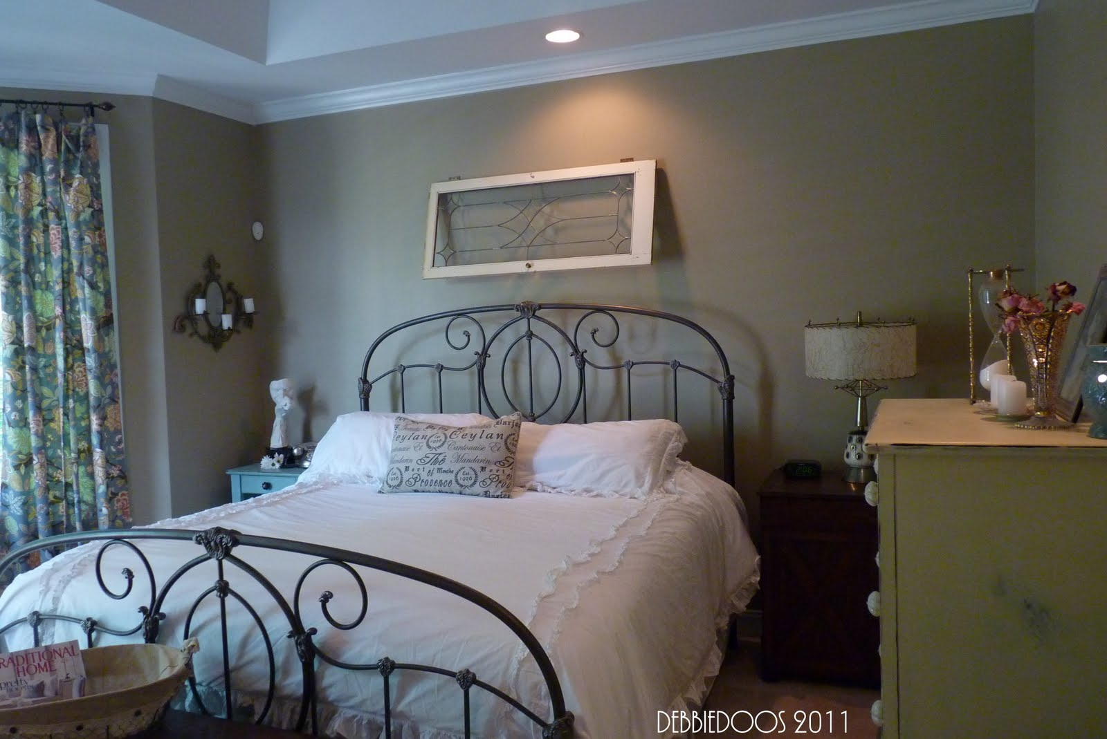 Shabby Chic, Eclectic Style Master Bedroom Office
