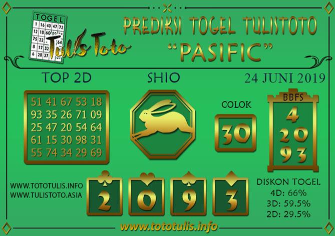 Prediksi Togel PASIFIC TULISTOTO 24 JUNI 2019