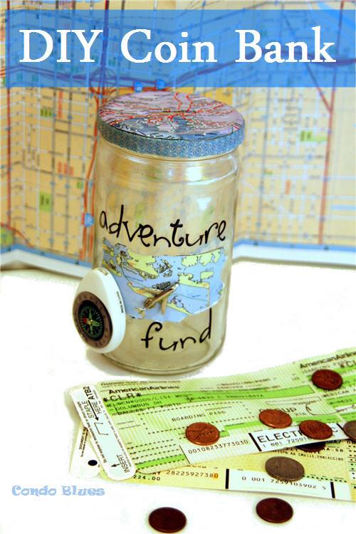 Condo Blues How To Make A Travel Mason Jar Coin Bank