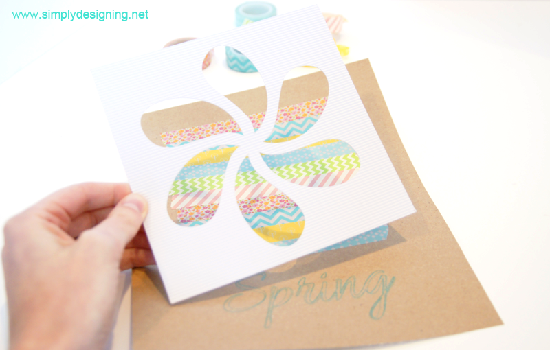 Washi Tape Spring Flower Decor | #washitape #spring #crafts