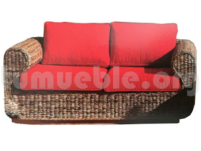 sofa hecho en rattan natural j388