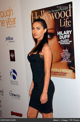 Rate it out of 10: Megan Fox in a Black Tight Dress!