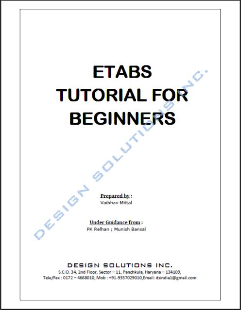 ETABS TUTORIAL FOR BEGINNERS