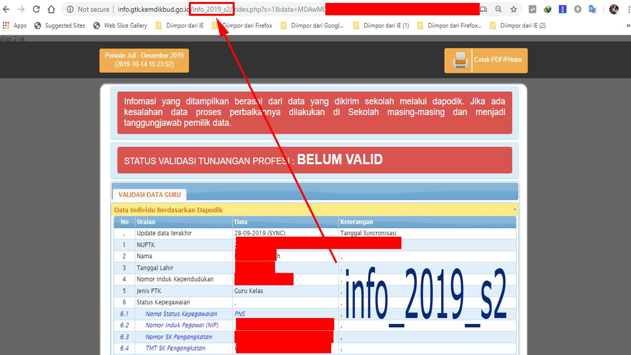 Mencoba Login Info GTK Tanpa Email dan Password PTK Dapodik