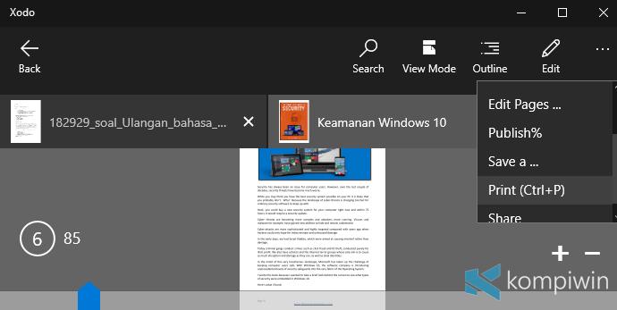 Cara Print Dokumen Word & PDF di Microsoft Word Foxit Reader