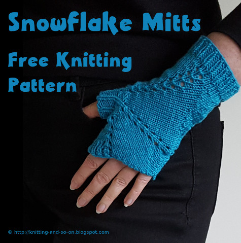 Knitting And So On Snowflake Mitts