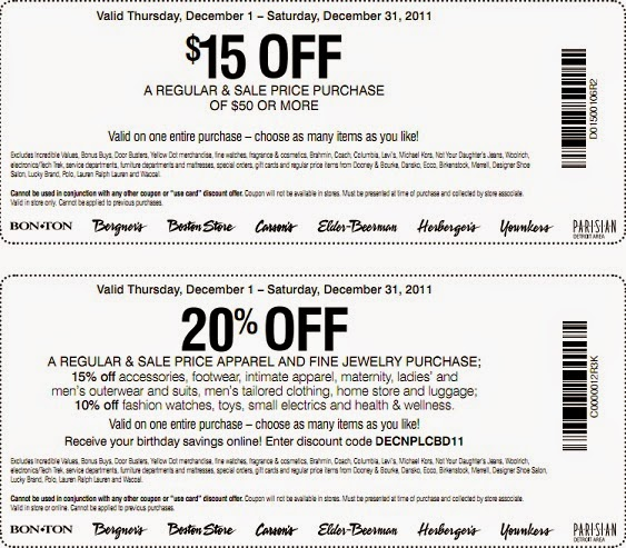 Carson's coupons $5 free