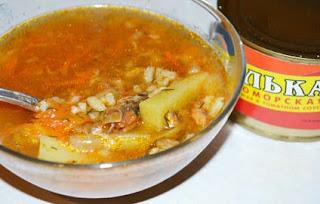 суп из консервов с килькой в томатном соусе