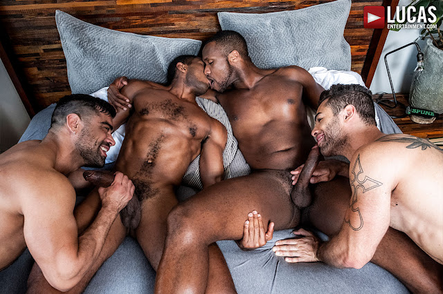 LucasEntertainment - SEAN, ANDRE, WAGNER, AND LUCAS SWAP PARTNERS