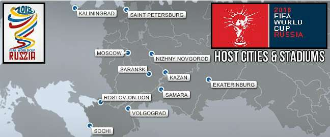 FIFA World Cup 2018 Host Cities