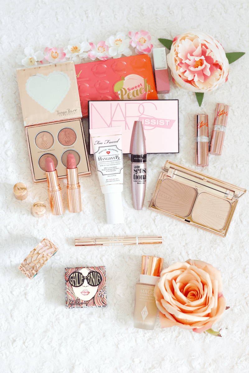 Pink & rose gold makeup collection