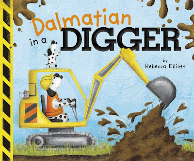 Dalmatain in a Digger: This picture book combines two things little kids love: animals and machines! A fun story with great sounds, big machines, and a variety of animals. What are these animals building? #picturebook