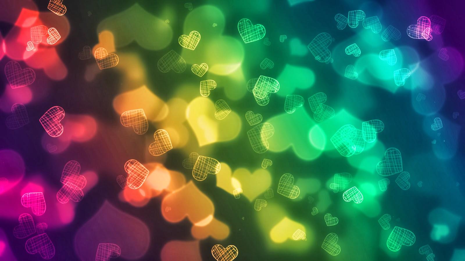 Fondos Abstractos De Colores: Imagenes Hilandy: Fondo De Pantalla Abstracto Corazones De