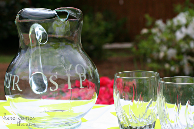Here Comes the Sun: Etched Glass Pitcher