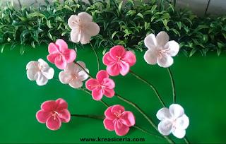 Cara Mudah Membuat Bunga Cantik Bunga Sakura dari Flanel