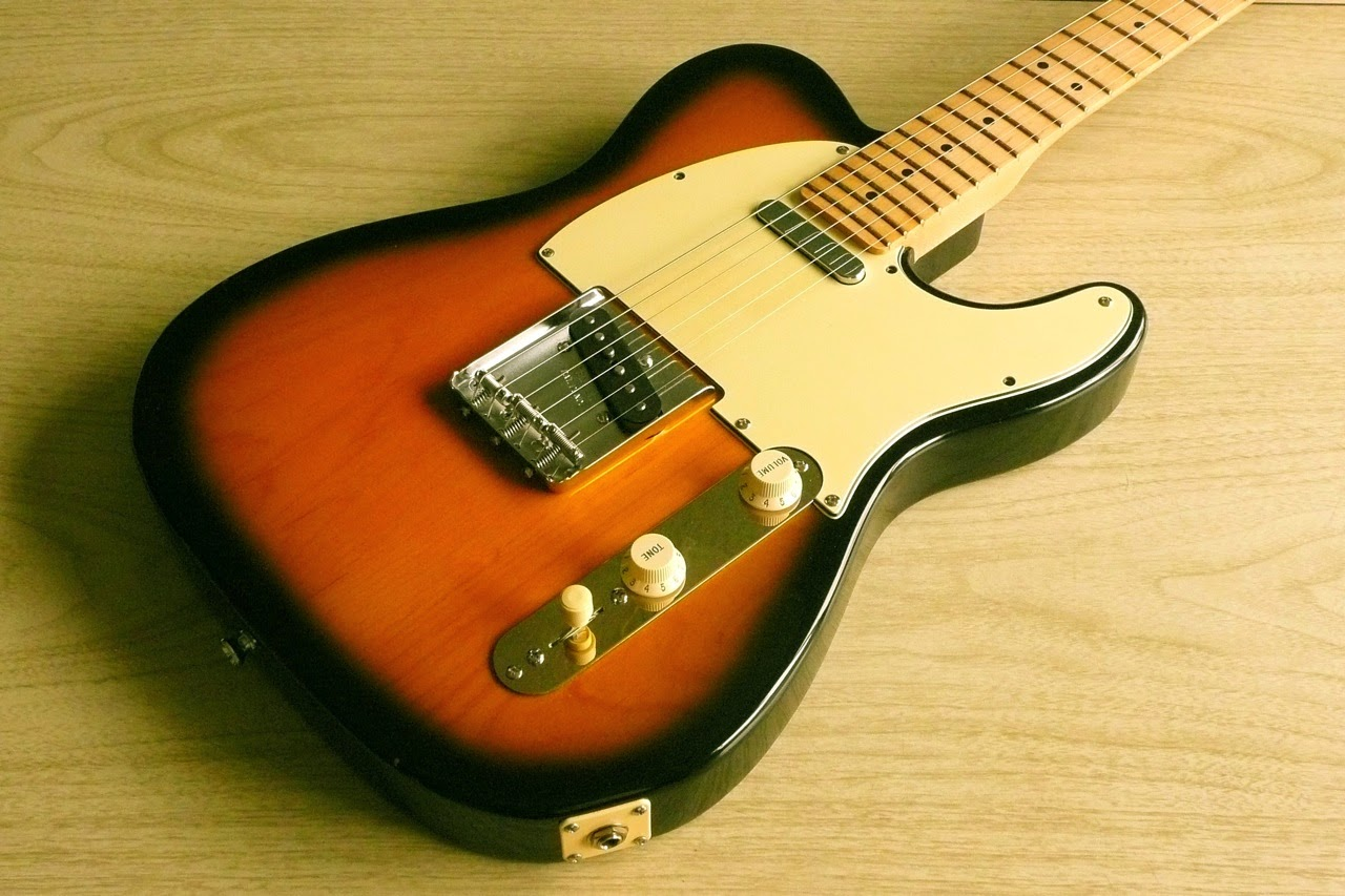 Tele, Telecaster, custom, build, Mitey Mite Tele neck, neck, WD, body, sunburst, vintage bridge, Fender '62 pickup, Tex Mex, cream pickguard, Les Paul jack plate, reversed control plate, Strat knobs, James Aoyama Custom
