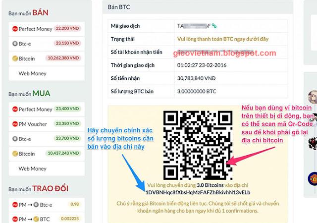 cách mua bán Bitcoin trên Santienao.com