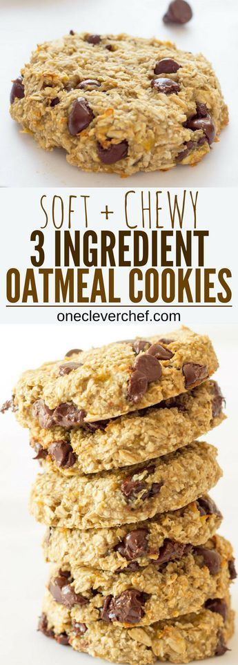 3 Ingredient Bânânâ Oâtmeâl Cookies
