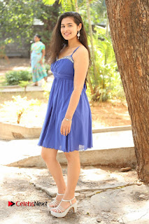 Actress Prasanna Stills in Blue Short Dress at Inkenti Nuvve Cheppu Movie Platinum Disc Function  0192.JPG