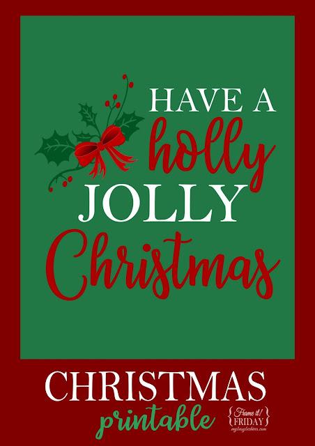 Holly Jolly Christmas printable