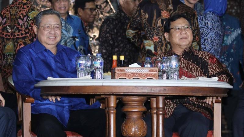 SBY dan Prabowo saat bertemu di Cikeas