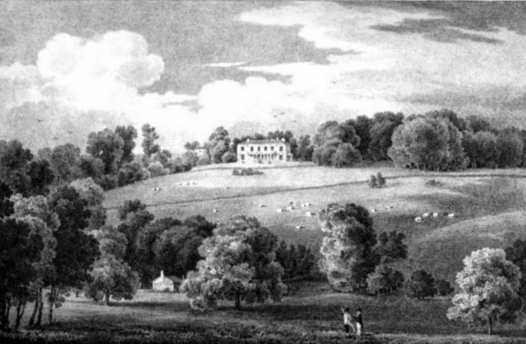 Polesden  from Select Illustrations of the County of Surrey by GF Prosser (1828)