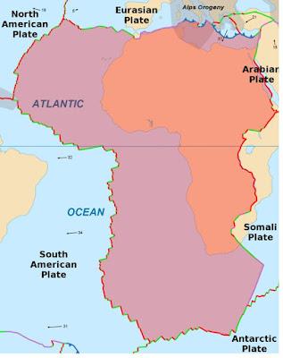 Lempeng Tektonik Afrika - pustakapengetahuan.com