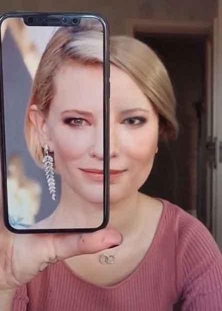 Transformasi Makeup menjadi Cate Blanchett