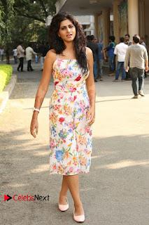 Actress Shamili Stills in Floral Short Dress at Sree Ramaraksha Song Launch  0196