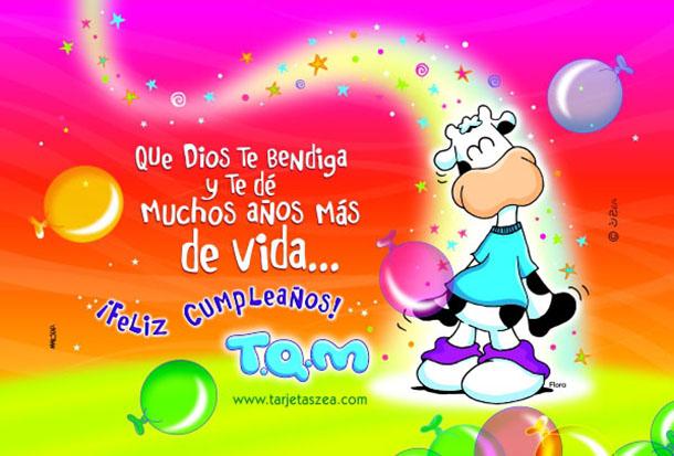 feliz cumpleaños tqm