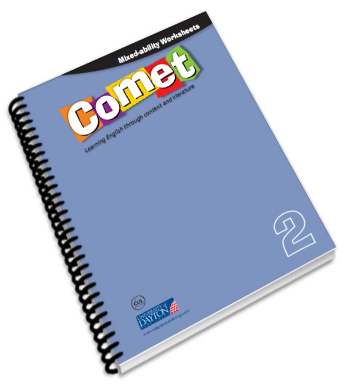 http://www.primerodecarlos.com/SEGUNDO_PRIMARIA/abril/Mixed-ability_worksheets._Comet_2/index.html