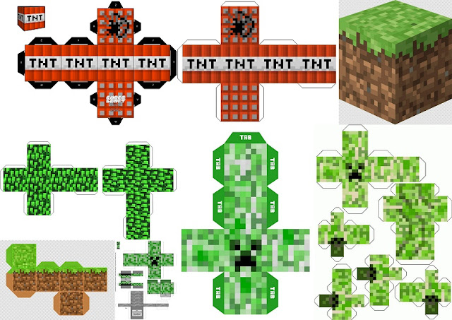 Minecraft Party: Free Printable Boxes.