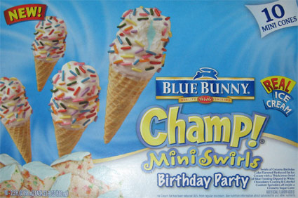 Weve Got Swirls Of Birthday Cake Flavored Reduced Fat Ice Cream With A Thick Inner Swirl Blue