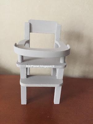 Chaise haute pour Bebichhichi - accessoires - meubles - chaise bébé - monchhichi - sekiguchi - handmade -fait main